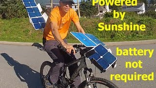 Watch amazing! Solar electric bicycle NO battery power required