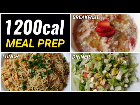 Meal Prep 1,200 calories in 25mins!! ( EXTREME FAT LOSS ) ����