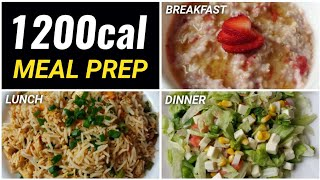 Meal Prep 1,200 calories in 25mins !! ( EXTREME FAT LOSS ) 🇮🇳