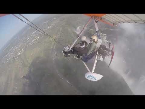 Victoria Falls Microlite flight over the falls