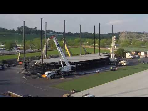 Hersheypark Stadium stage construction time lapse
