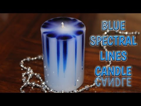 BLUE SPECTRAL LINES CANDLE   ADVANCE CANDLE MAKING