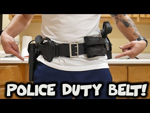 What Is On A POLICE Duty Belt?