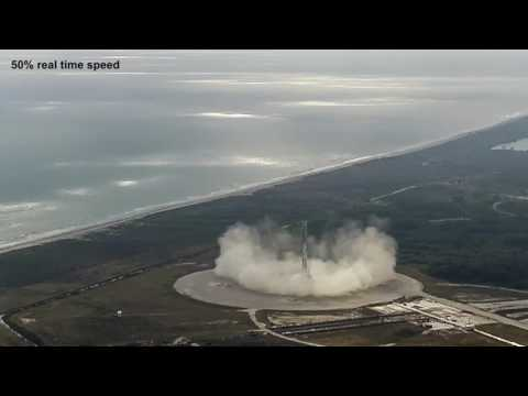 Falcon 9 CRS-10 Landing - Crop and Slowmotion (NASA/SpaceX 4K source)