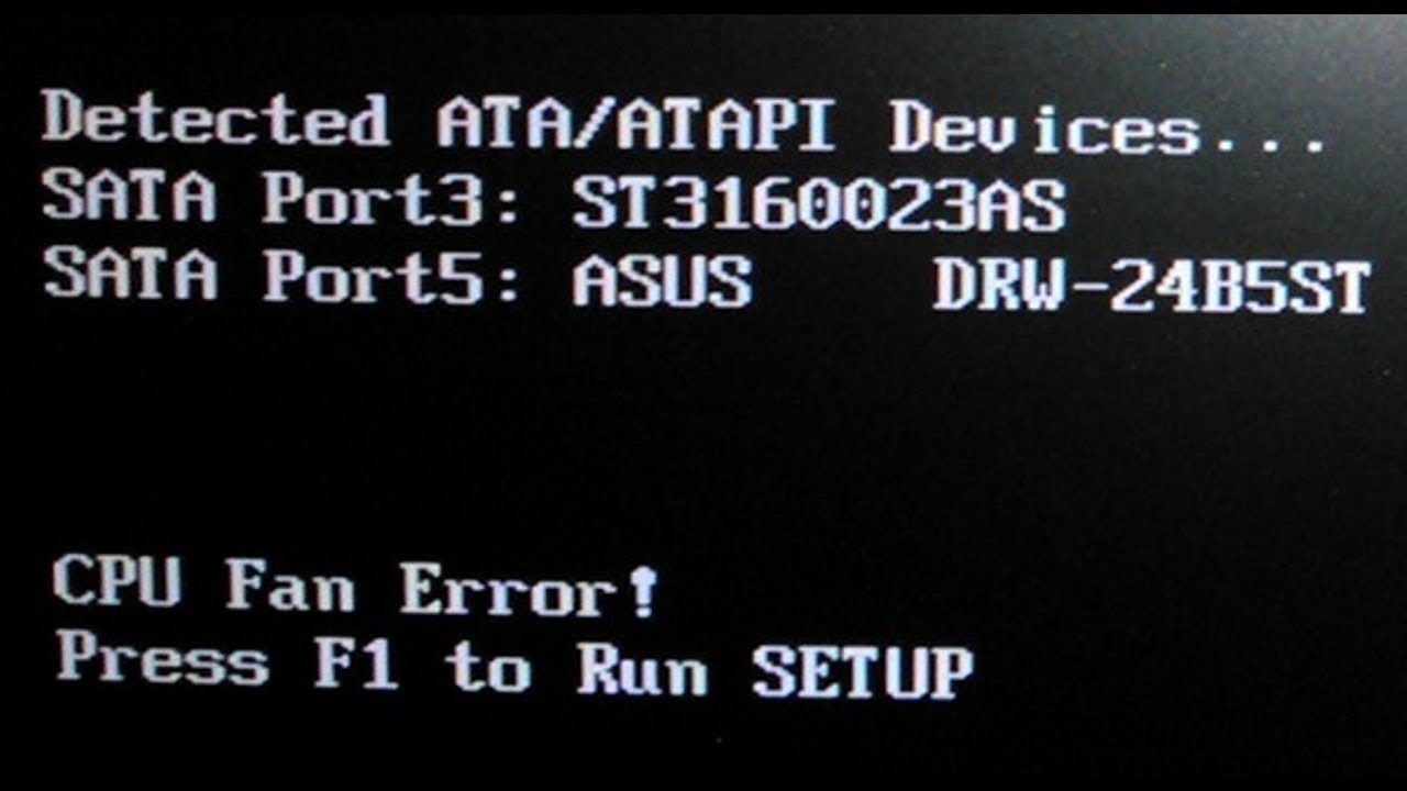 resume Cpu Fan Error Press F1 To Resume cpu fan error press f1 youtube d