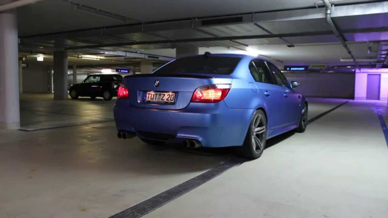 Bmw M5 E60 Quot Matt Anodized Blue Quot Custom Exhaust Youtube