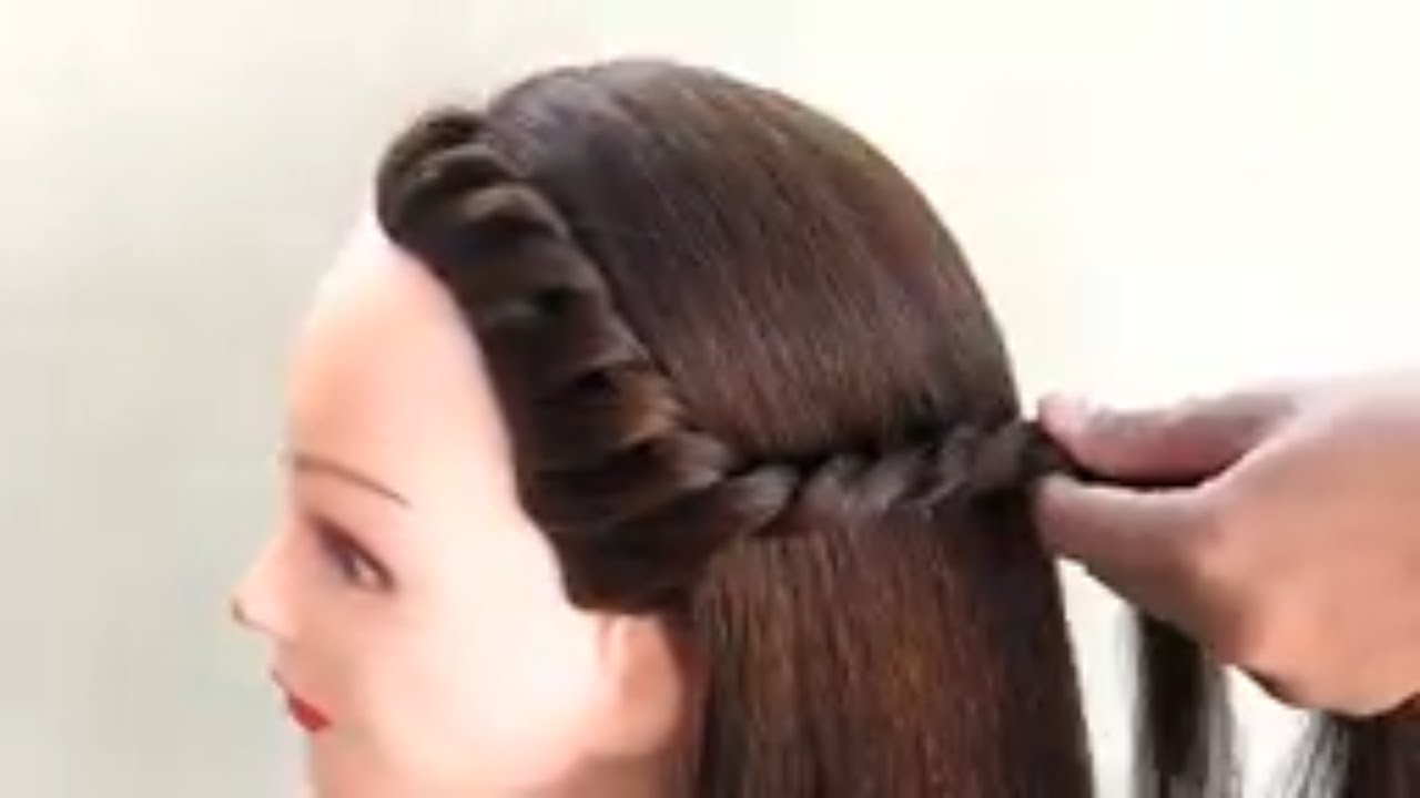 Easy One side Hairstyle For Girls  Simple Girls Hairstyle For
