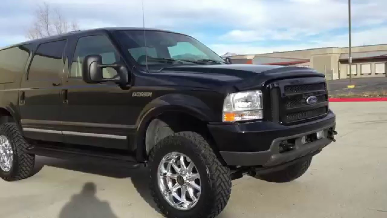 Com low miles 2001 ford excursion limited 4x4 lifted 7 3 powerstroke diesel youtube