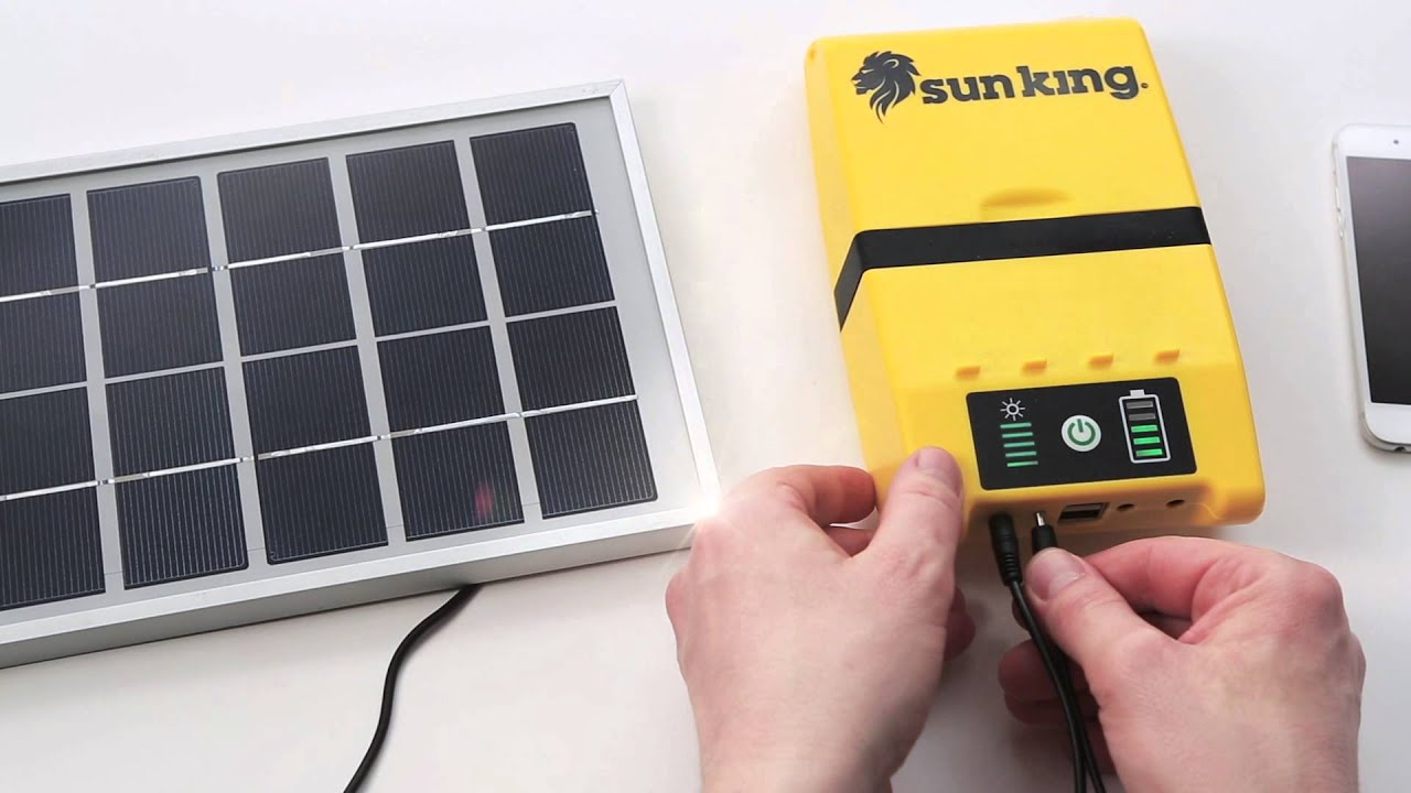 Superb Sun King Home System Solar Light + USB Charger   YouTube Photo