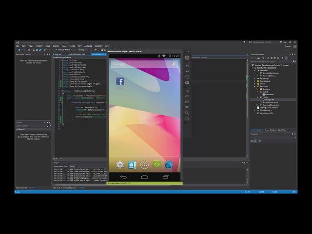 Xamarin Android Tutorial   67   Logging into Facebook