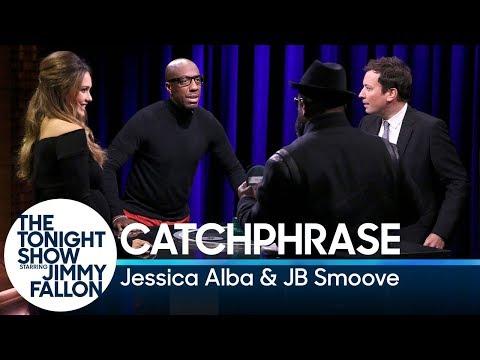 Catchphrase with Jessica Alba and JB Smoove