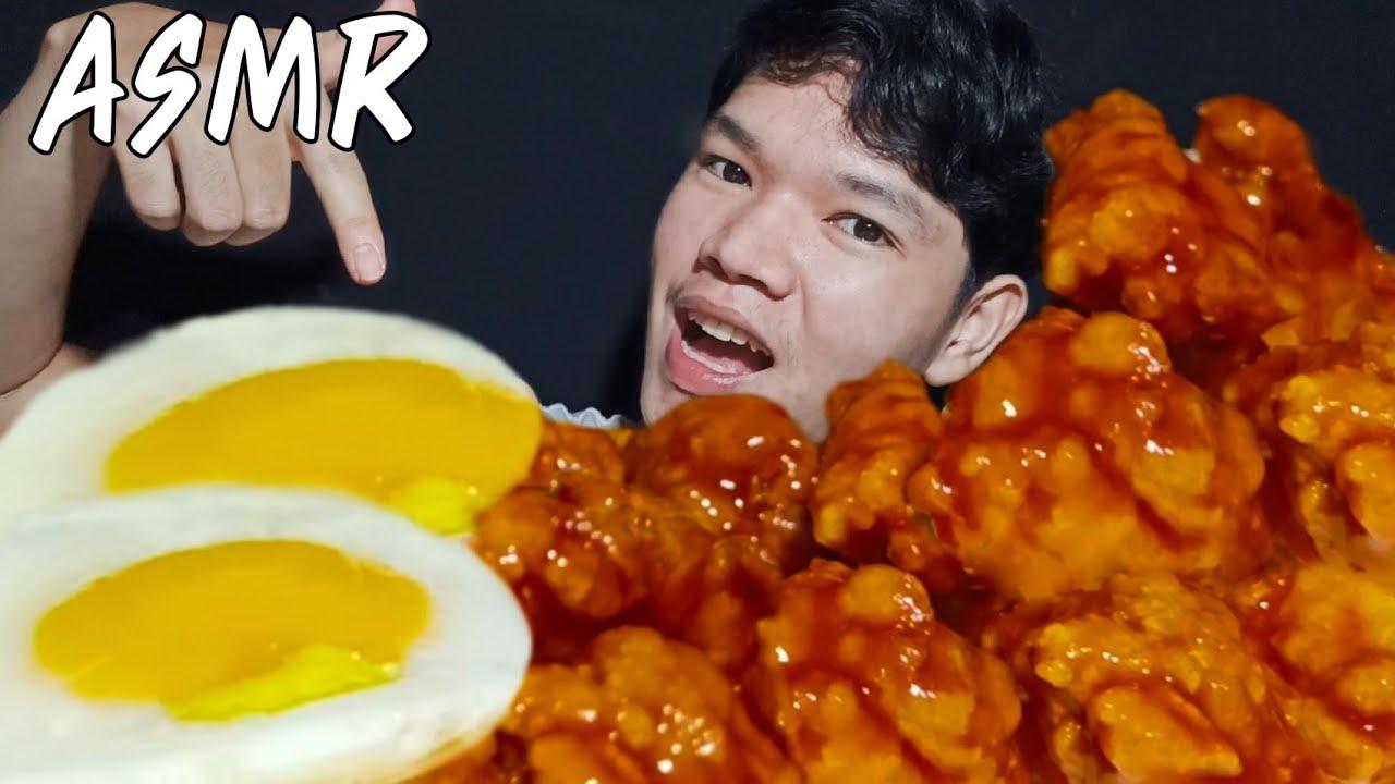 ASMR ไก่ทอดเกาหลี , Fried chicken ,fried egg