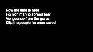 Iron Man Black Sabbath Lyrics ...with song