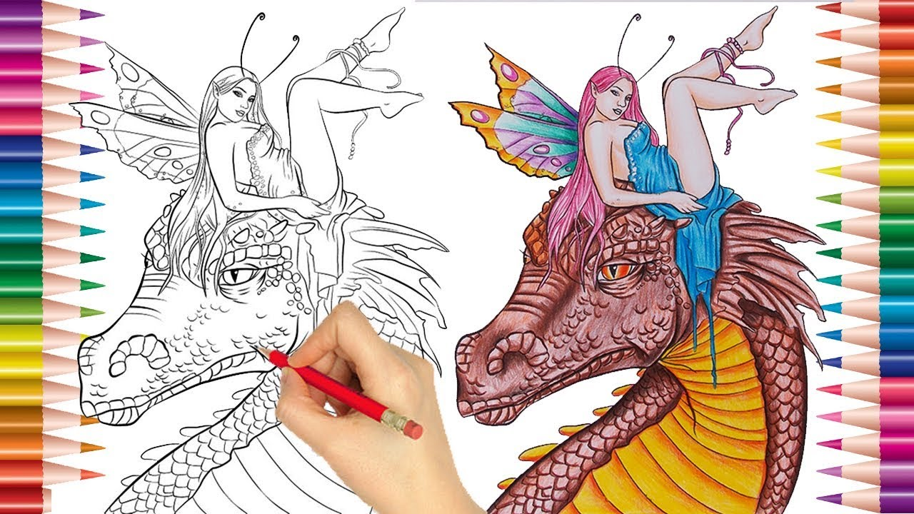 Dragao E Fada Desenhos Para Imprimir E Pintar Desenhos Para