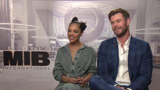 Men In Black: International Chris Hemsworth & Tessa Thompson Junket Soundbites || #SocialNews.XYZ