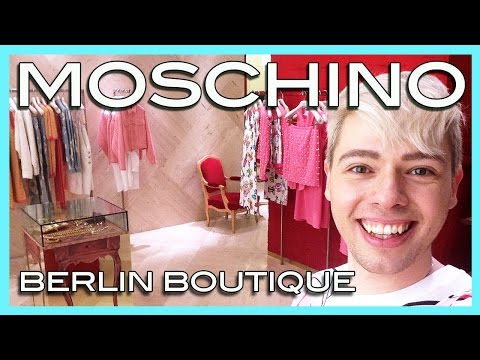 visiting the MOSCHINO boutique in Berlin