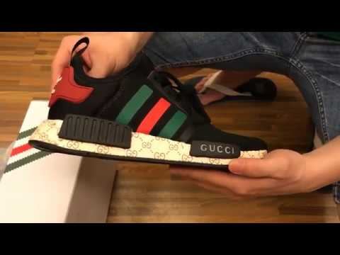 pretty nice 39115 f108b NEW 2017 UA Adidas X Gucci NMD R1 Black