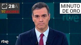 Minuto de oro de Pedro Sánchez   Debate en RTVE