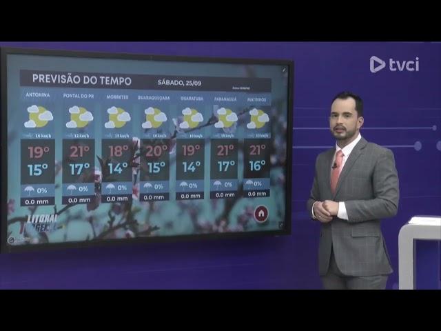 PREVISÃO DO TEMPO PARA SÁBADO, DIA 25/09/2021