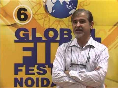 Brahm Prakash speaking about 6th Global Film Festival Noida 2013