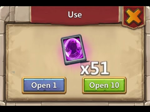 Opening 51 PRIME Hero Cards AT ONCE Castle Clash