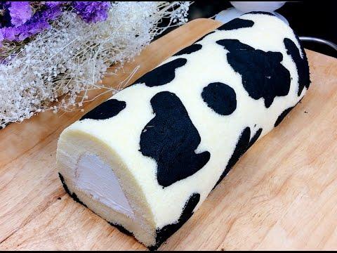 Milk Roll Cake  Recipe สอนทำโรลเค้กนมสด นุ่มๆหอมๆ