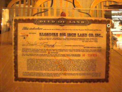 The Square Inch of Yukon gold rush territory land Deed in every box of Quaker Oats scam