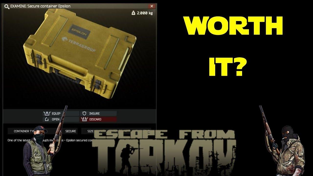 Epsilon Container Worth It Escape From Tarkov Youtube