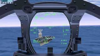 Buzzing the carrier in F-14 (JetFighter 3 Classic vs U.S.Navy Fighters Gold)