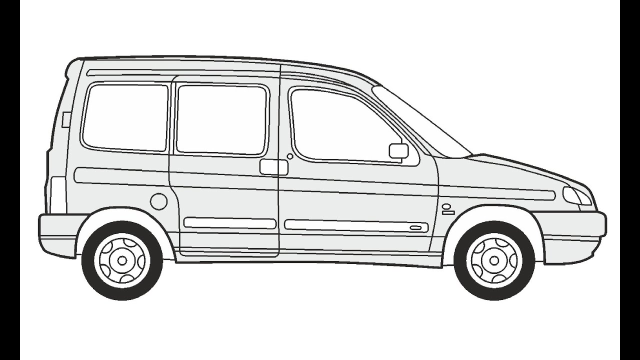 How to Draw a Peugeot Partner Combi / Как нарисовать
