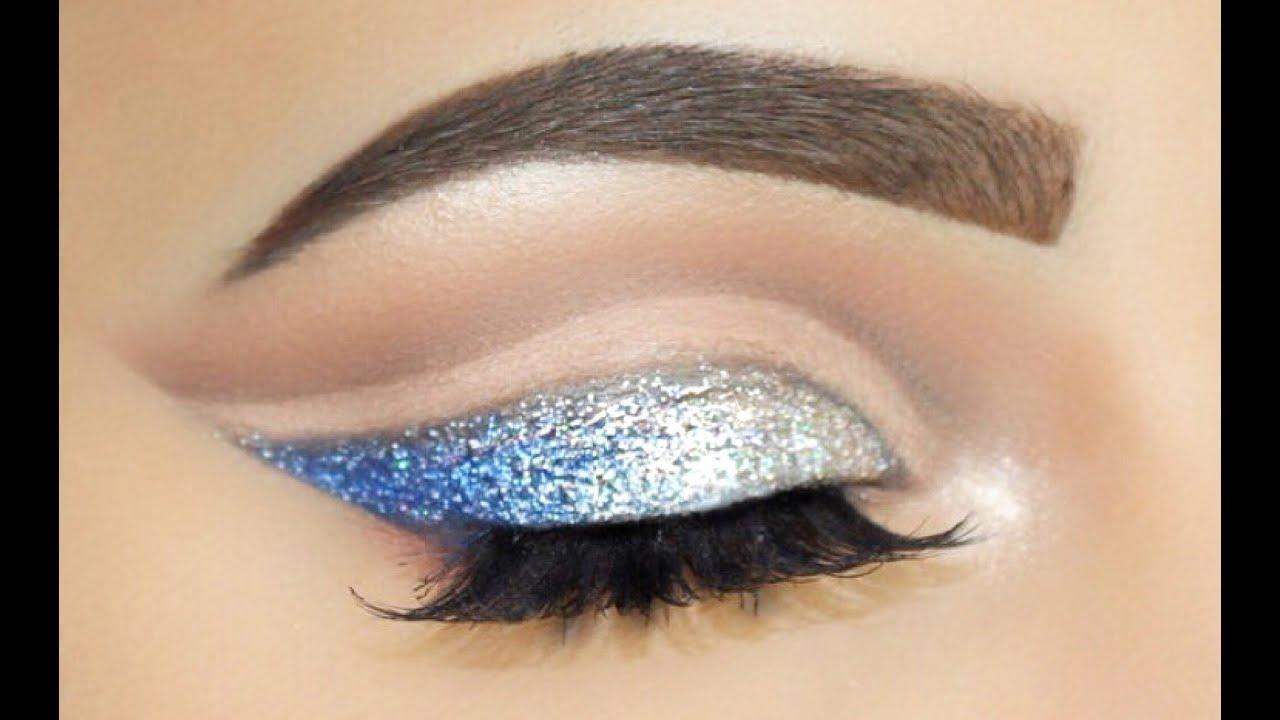 Silver Blue Ombre Double Cut Crease Sofie Bella Youtube