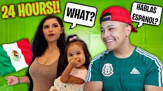 SPEAKING ONLY SPANISH TO MY GIRLFRIEND FOR 24 HOURS CHALLENGE!!! *HABLANDO ESPAÑOL*