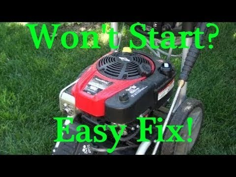 Newer POWERSTROKE Pressure Washer won't START after STORAGE. BRIGGS and STRATTON Ready Start 190cc