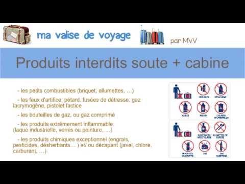 Liste produits interdits cabine avion youtube - Taille des hortensias en mars ...
