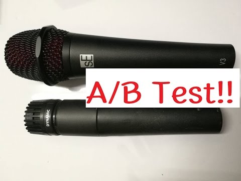 sE Electronics V3  VS Shure SM57 A/B test