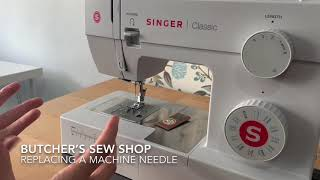 Replacing a sewing machine needle