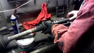 Приводной вал Citroen C4 замена промежуточного подшипника