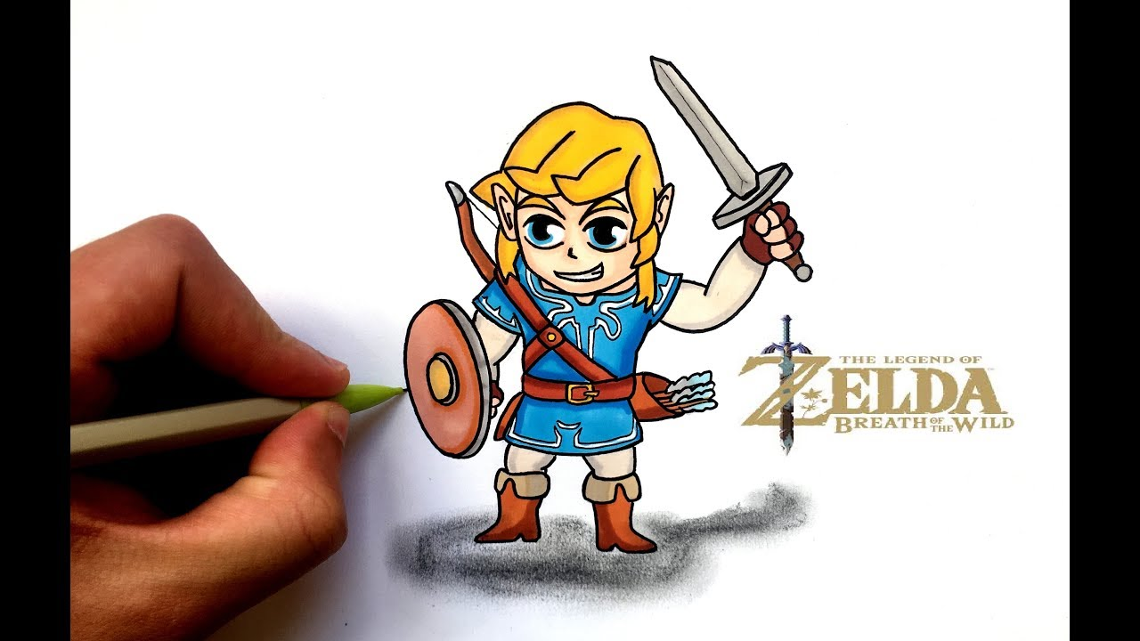 Draw Link Zelda Breath Of The Wild