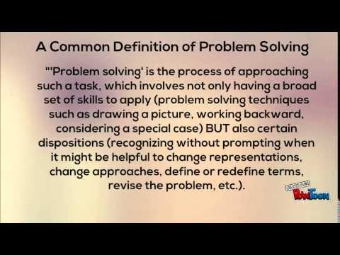 problem solving skill definition