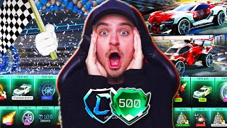 *OMG* Rocket League UPDATED The NEW Rocket Pass so I BOUGHT 500 NEW TIERS! | Season 3 Update!