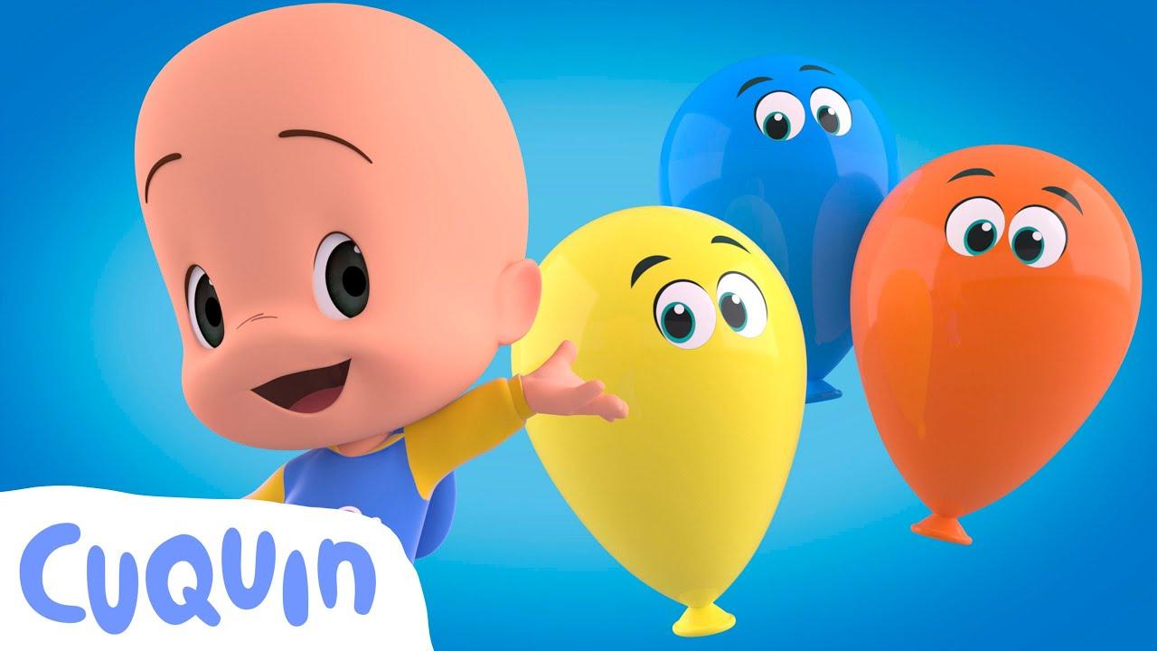 Aprenda as animais com Cuquin e seus balões surpresa | Desenhos animados para bebês