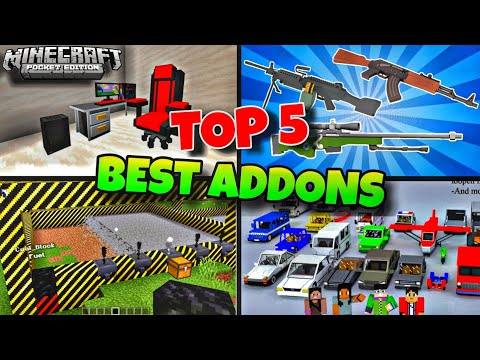 TOP 5 Best Addons/Mods For Minecraft Pocket Edition   MCPE   Christmas Special Addons