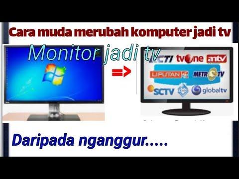 Tutorial Membuat Monitor Pc Menjadi Tv Youtube