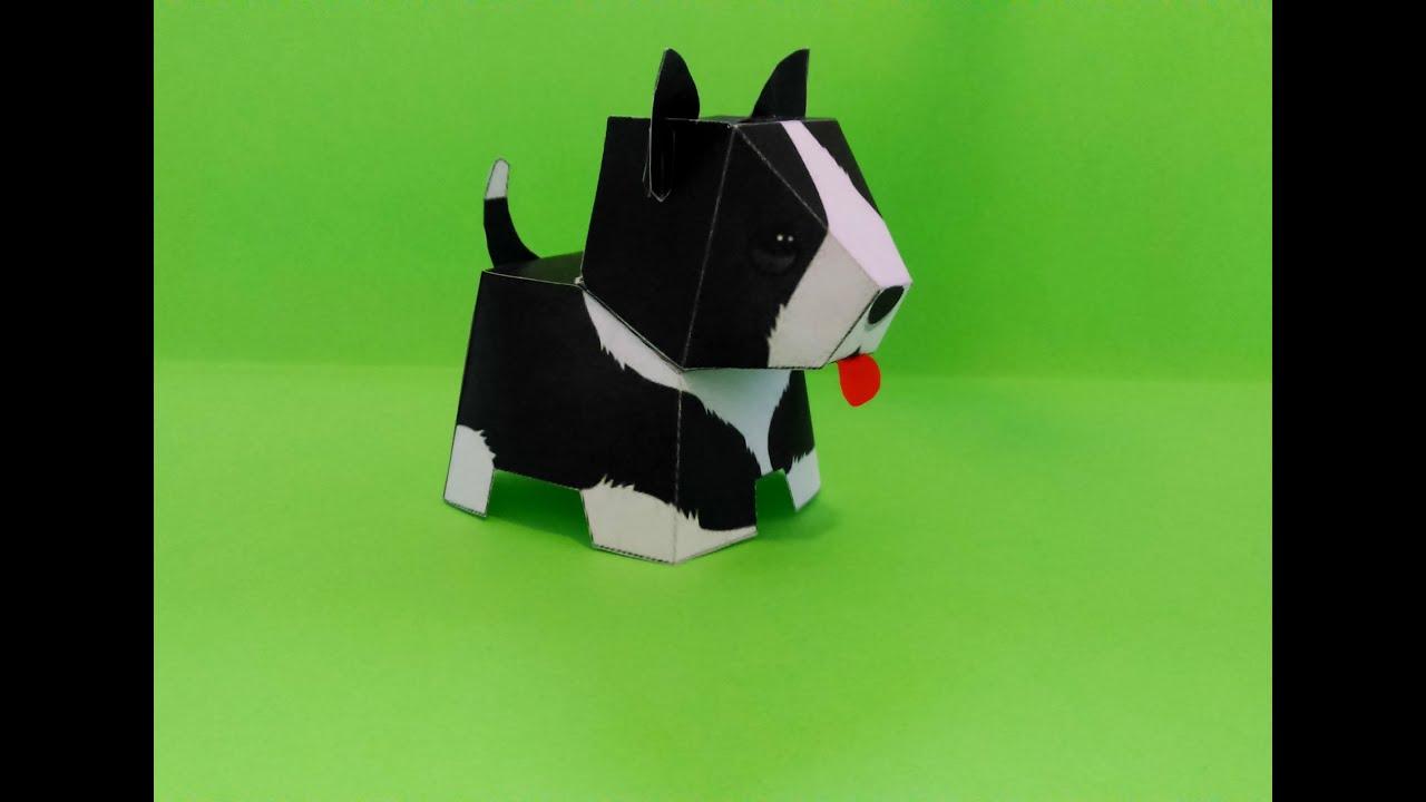 Своими руками поделка собака из бумаги