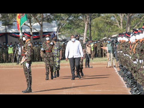 LIVE! PRESIDENT UHURU LAUNCHES KENYA DEFENCE FORCES ENGINEERING EQUIPMENT IN THIKA!!