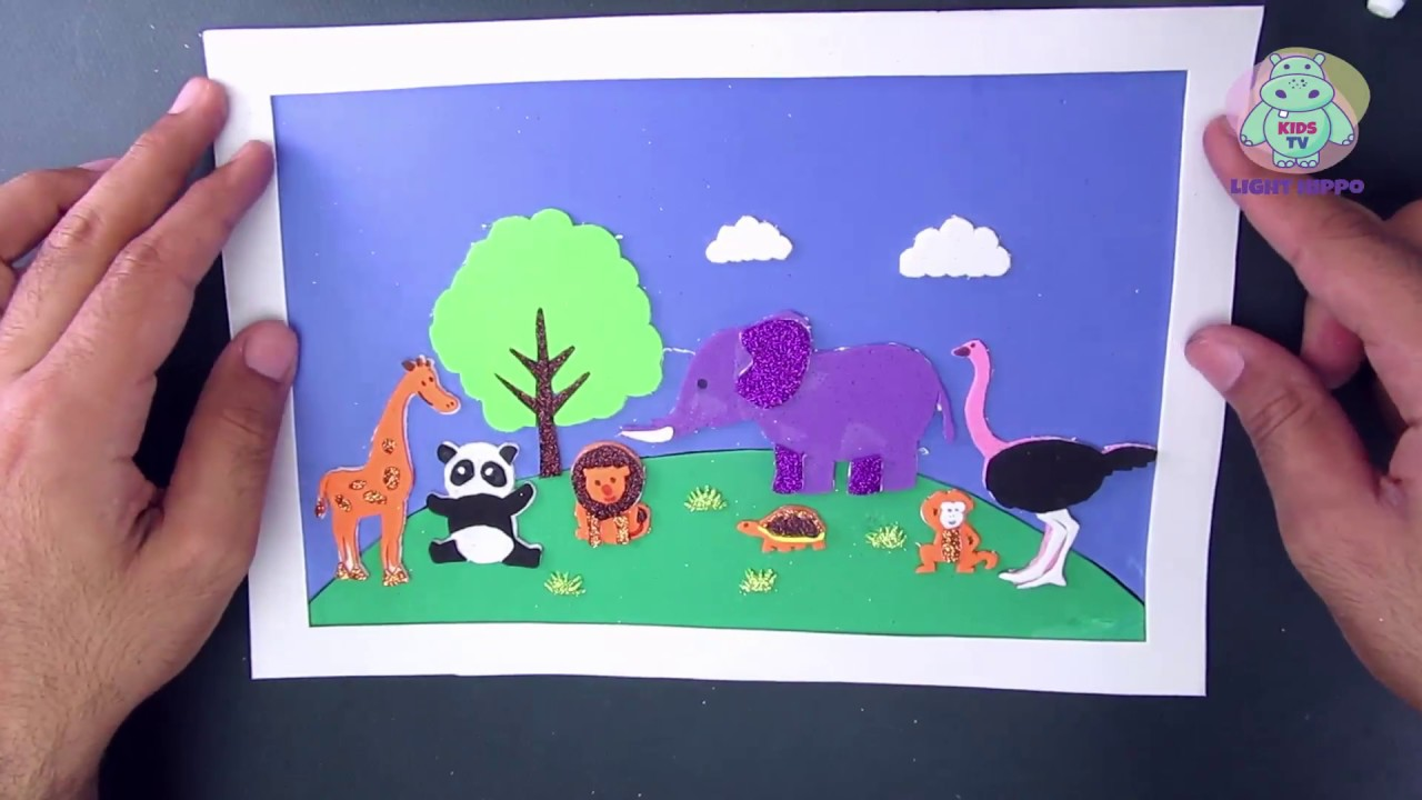 Wild Animals Zoo Cut And Paste For Kids 4 Final Collection