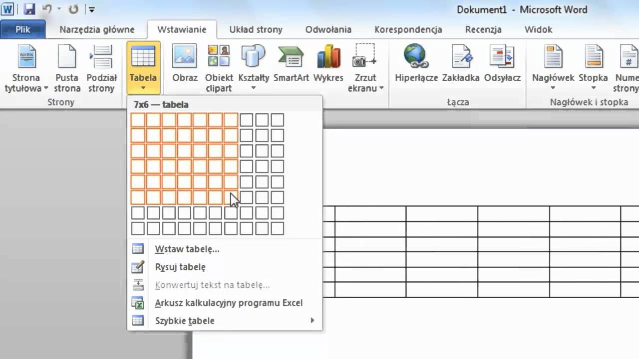 jak wstawi u0107 tabel u0119 w programie microsoft word 2010