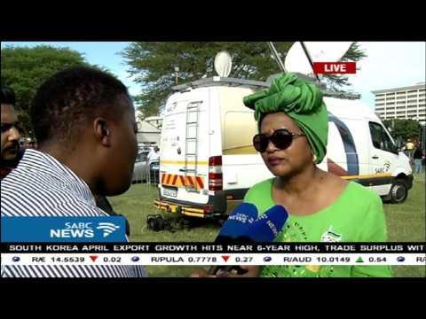 Baleka Mbete at the KZN May Day rally