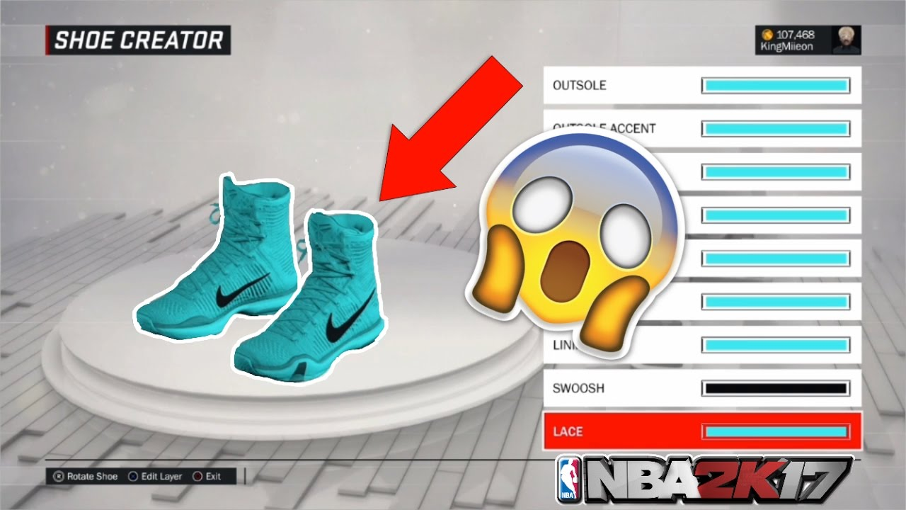NBA 2K17 | Nike Cheesy Shoes Tutorial | Best Nike Shoes in store| Look like  a goat../+ Plus montage!