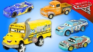 Disney CARS 3 Miss Fritter Dinoco 5 Voitures miniature Jouet Toy Review Mattel